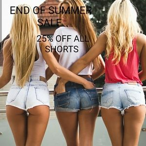 25% OFF ALL 🩳SHORTS, END OF SUMMER SALE